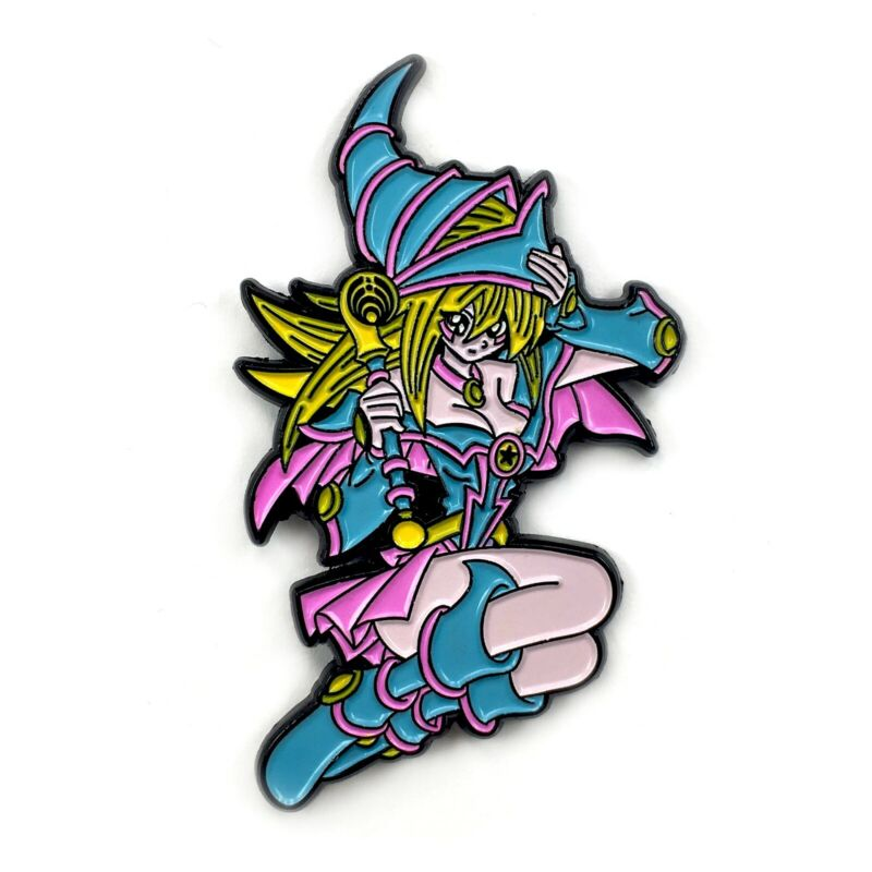 Dark Magician Girl Yu-Gi-Oh Enamel Pin Cartoon Heady Festival Hat and Lapel