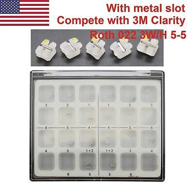 Metal Slot Ceramic Bracket Dental Orthodontic 3m Unitek Clarity Roth 022 3wh