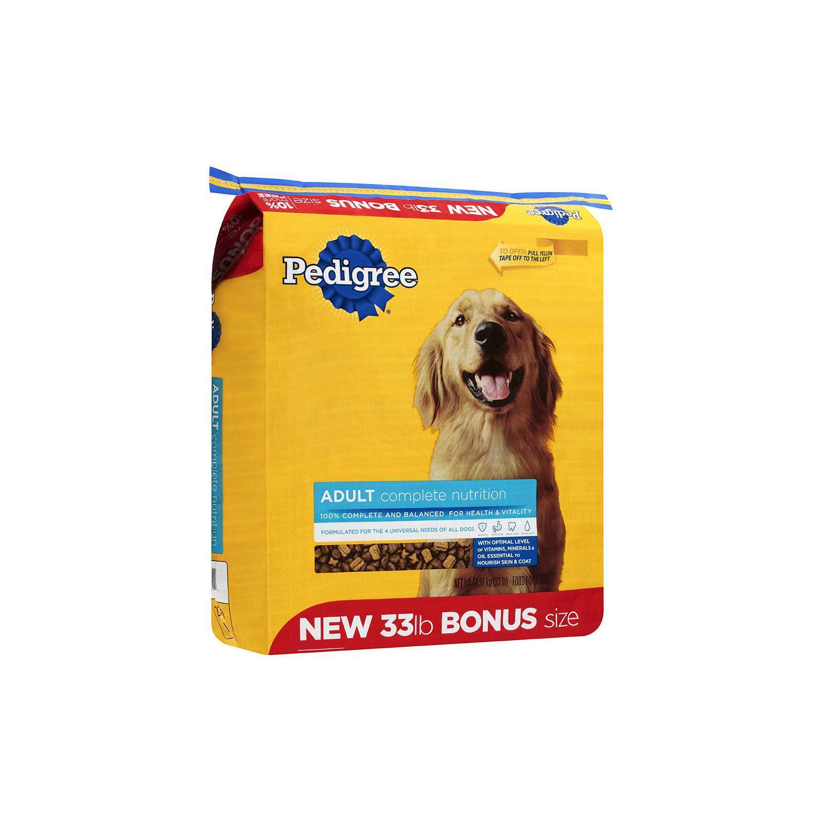 Pedigree Adult Complete Nutrition Dry Dog Food 33lb Bag Ebay