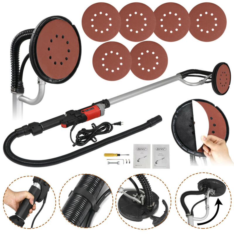 Drywall Sander 800 Watts Commercial Electric Variable Speed Free Sanding Pad New