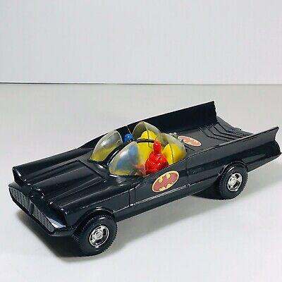 Vintage Batmobile Batman & Robin Toy 1970s Duncan Blue & Red Figures Plastic