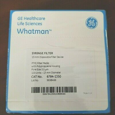 Whatman 6784-1350 Puradisc 13 Ptfe Syringe Filter Pore Size 5m Diameter13mm