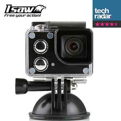 ISAW EDGE 4K ULTRA HD 1080P ACTION CAM / 170° LENS / WATERPROOF HOUSING /
