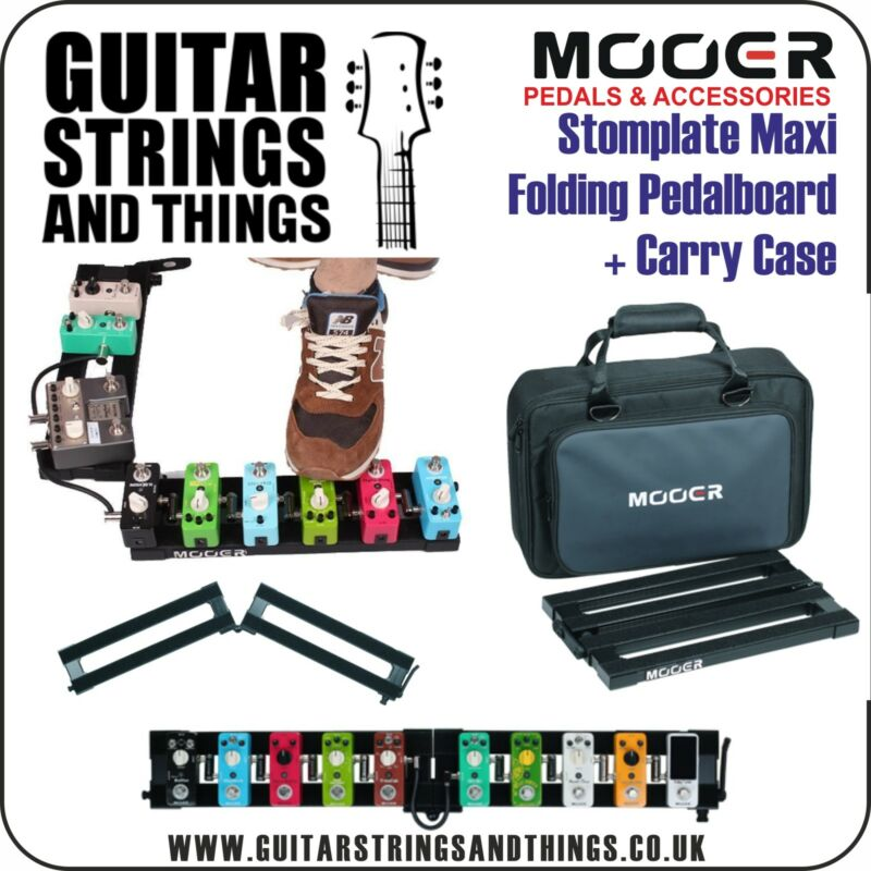 Mooer PB10 Stomplate Maxi Folding Pedalboard with Carry Case