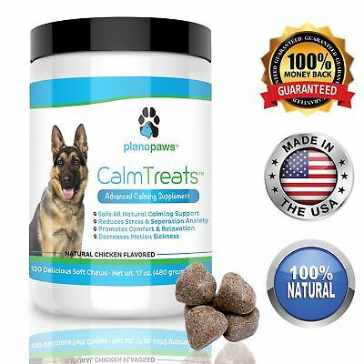 Calm Treats, Safe, All Natural Calming for Dogs, Dog Anxiety Supplement, Helps
