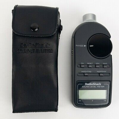 Vintage Radio Shack Realistic 33-2050 Analog Sound Level Meter W Case