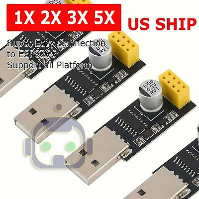 Usb To Esp8266 Serial Module Ttl Wifi Esp-01 Ch340g Developent Board Adapter