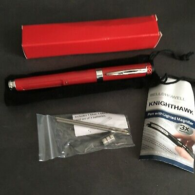 Bell Howell Knighthawk Light Pen With Lighted Led Magnifier Red Bling