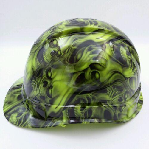 Hard Hat custom hydro dipped , OSHA approved see,hear no evil SKULLS, NEW !! 1