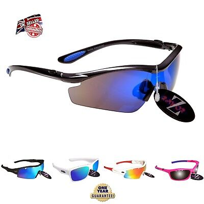 Rayzor Sports Wrap Sunglasses UV400 Anti Glare Mens Ladies Women Unisex rrp£49