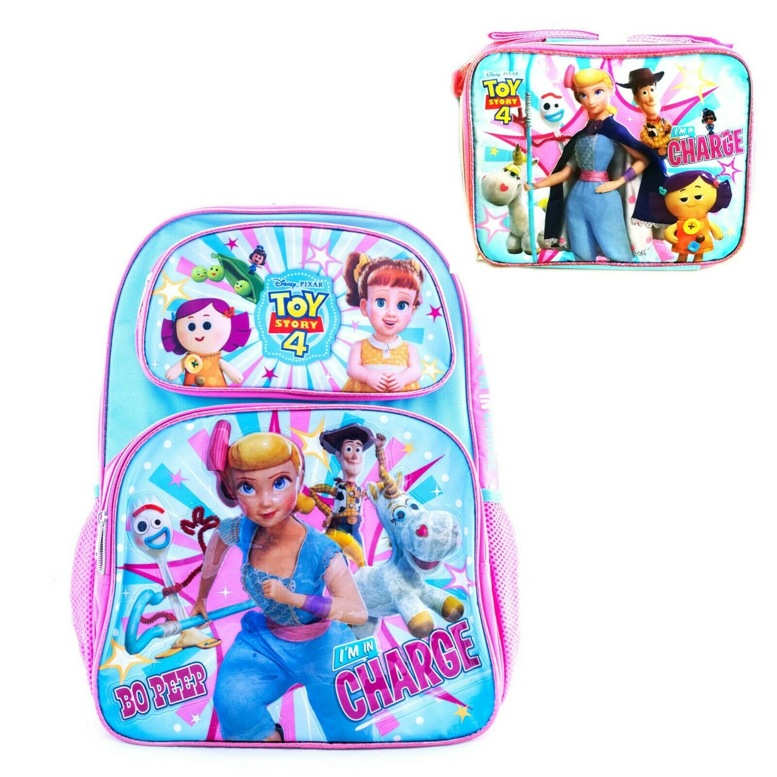 Toy Story 4 Backpacks, Lunch Box for Girls School Luggage Ba