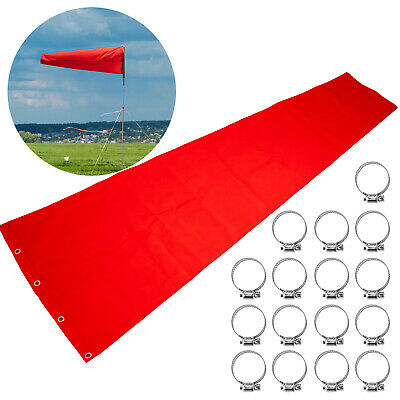 Airport Windsock Aviation Wind Sock Bag Outdoor Camping Flag 121x365cm Orangered