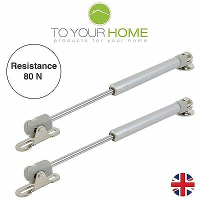2 x 80Nm Gas Struts Springs for Kitchen Cupboard Cabinets Door Stay Pair