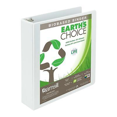 Samsill Earths Choice Biobased Durable 3 Ring View Binder 2 Inch Round Ring