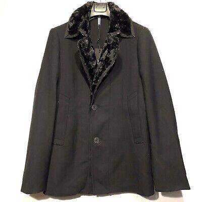 EFM Engineered For Motion Mens Faux Fur Coat Jacket Black Size M (MSRP $695)