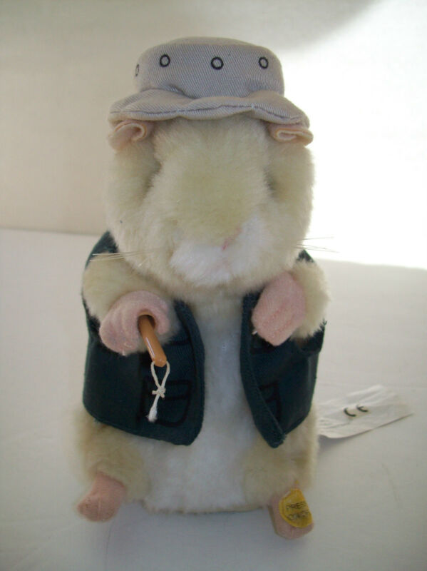 Gemmy Dancing Hamster Fisherman Going Fishing Wearing Hat and Vest