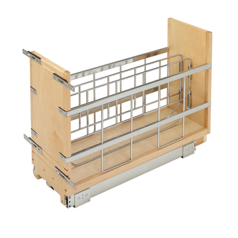 Rev-A-Shelf 447-BCSC-5C 5-Inch Kitchen Pull Out Tray Divider Cabinet Organizer