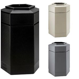 30 gallon commercial zone hex trash can indoor outdoor large waste container lid. Black Bedroom Furniture Sets. Home Design Ideas