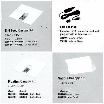 Black Track Lighting Accessories (NEW LIGHTOLIER TRACK LIGHTING ACCESSORIES 6060 6061 6062 6063 White or Black)