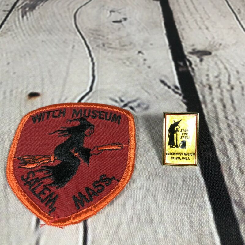 VTG Witch Museum Salem Massachusetts Souviner Patch And Lapel Pin