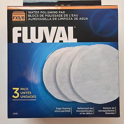 Fluval FX5 Polishing Canister Filter Pad White 3 Pack Hagen A-246 OEM