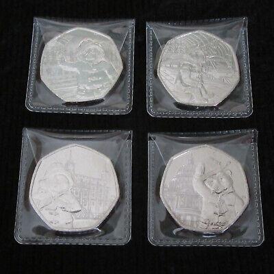 Paddington Bear 50p Coin at the Palace, Station, Tower, St Pauls OR set of 4 NEW