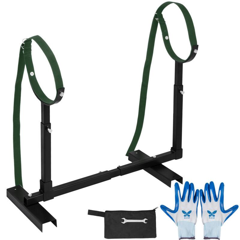 Fully Adjustable Grooming Breeding Stand W/ Collars Heavy Horizontal Grooming