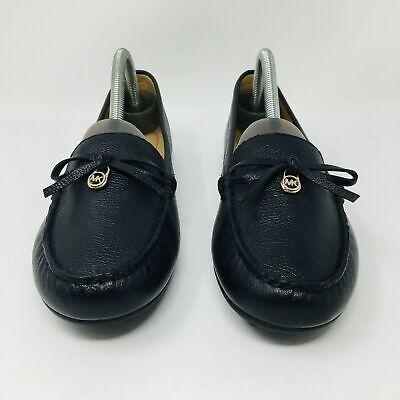 Michael Kors Everett Leather Moccasin (Women's Size 9.5) MK Gold Charm (Michael Kors Charm Flats)