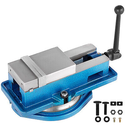 4 Milling Machine Lockdown Vise Swiveling Base Precise Scale Clamping Vise