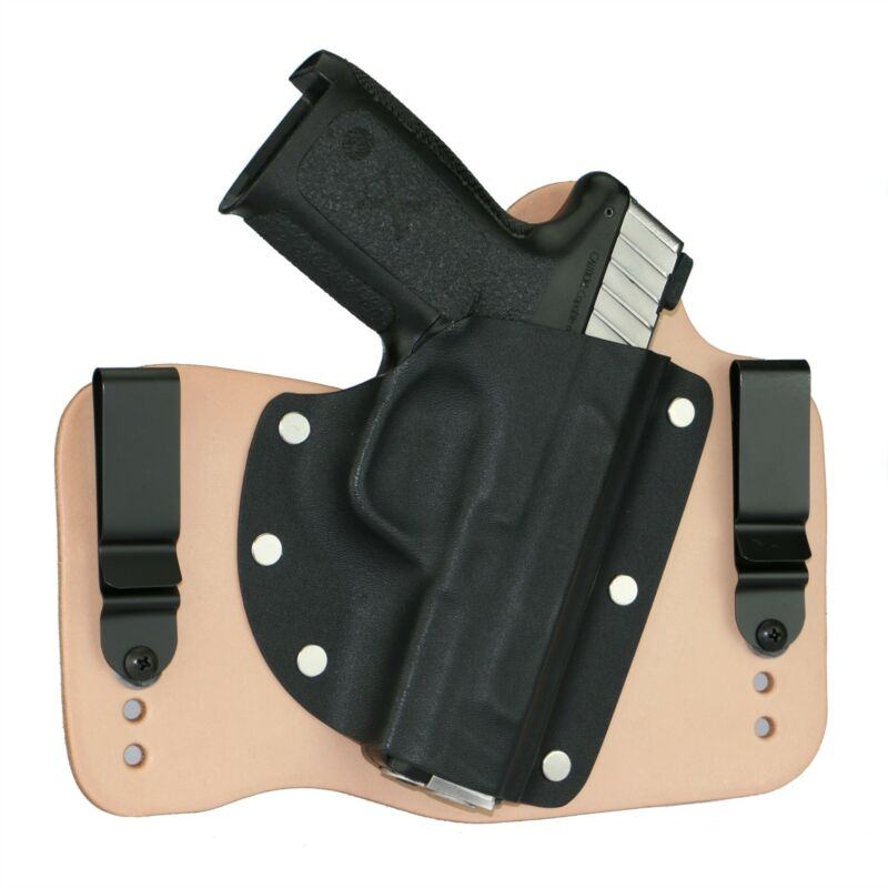 FoxX Leather & Kydex IWB Hybrid Holster Smith & Wesson SD9VE & SD40VE Natural RH