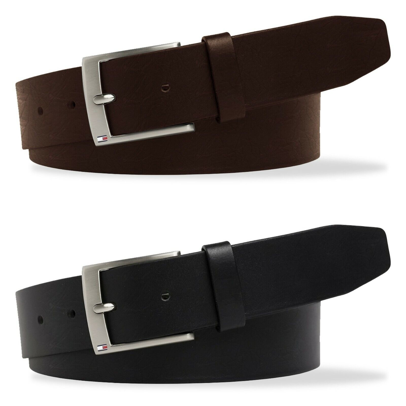 TOMMY HILFIGER MEN/'S LEATHER BELT BLACK OR BROWN 32 34 36 38 40 42 NWT MSRP $45