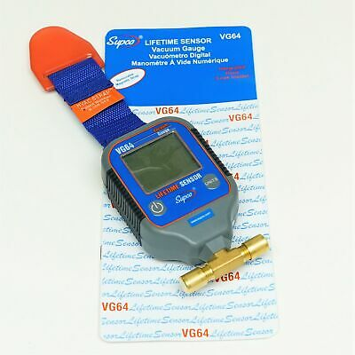 Supco Vg64 Digital Vacuum Gauge Hvac With Magnetic Hanging Strap