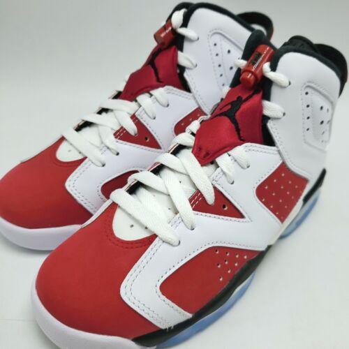 Nike Air Jordan 6 Retro (GS) Carmine (2021) Youth Shoes 384665-106 sz 4-7