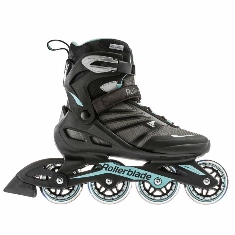 Rollerblade Zetrablade W Womens Adult Fitness Inline Skate, Size 9, Black, Blue