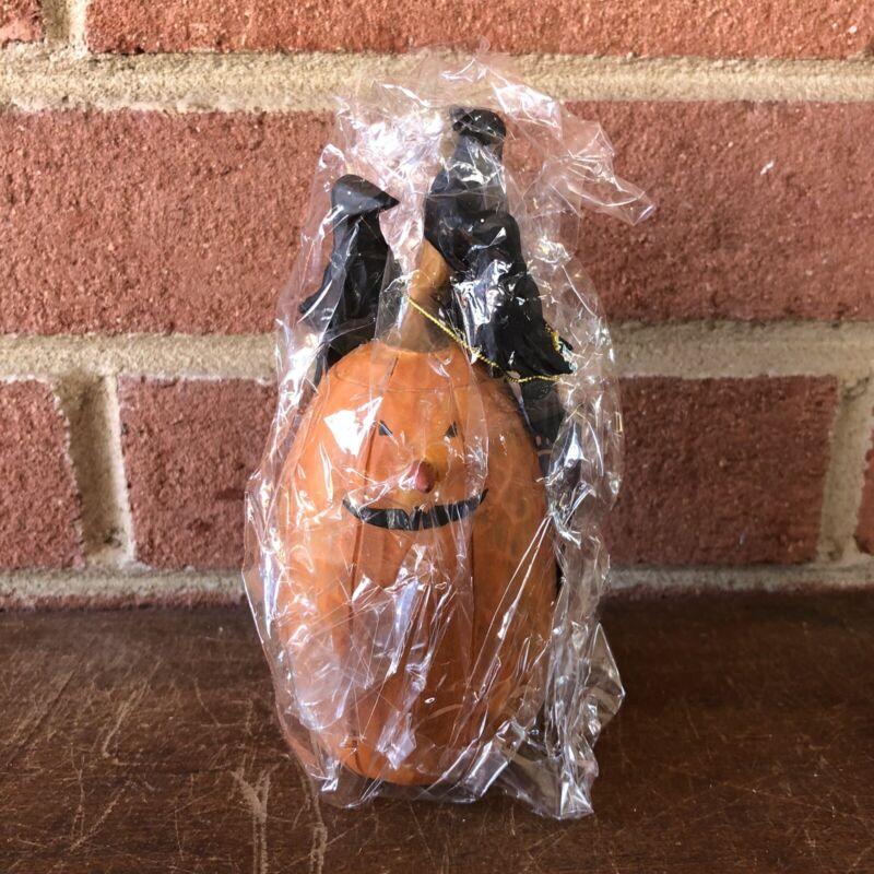 "Williraye Studio Halloween Pumpkin ""Jack O Lantern w/ Crows on Top"" WW6004"
