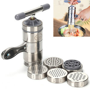 Stainless Steel Manual Noodle Pasta Maker Press Spaghetti Kitchen Tool Machine