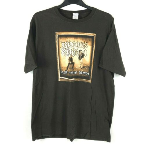 BROOKS & DUNN Play Something Country Concert Tour T-Shirt XL Country Music
