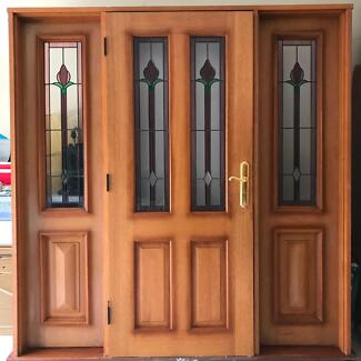 Stunning Front Door and Side Lights