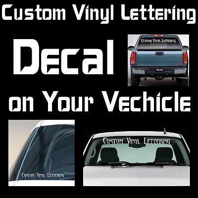 Custom Lettering Decal Vehicle Car  Window Body Windshield Fender Door Bumper  ()