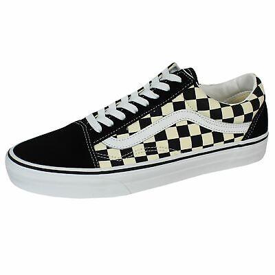Vans Old Skool schwarz und weiß kariert Canvas Sneaker