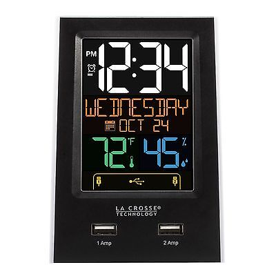 C86224 La Crosse Technology Alarm Clock with 2 USB Charging Ports - Refurbished