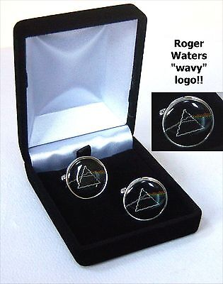 ROGER WATERS DARK SIDE OF THE MOON METAL CUFF LINKS NEW NIB OFFICIAL
