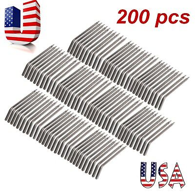 Usa 200pcs Dental Syringe Nozzles Tips For Triple 3-way Dental Air Water Mist