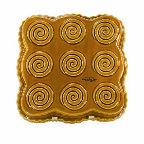 King Arthur Flour Cinnamon Roll Baking Pan, Square Stoneware, Chicago Metallic