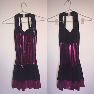 Metallic Pink and Black Dance Costume for Hire Subiaco Subiaco Area Preview