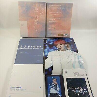 BTS World Tour Love yourself DVD Photobook RM Photocard JUNGKOOK Fold Poster