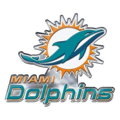 Miami Dolphins CE4 Alternative Logo Farbe Auto Emblem Chrom Aufkleber Fußball ()
