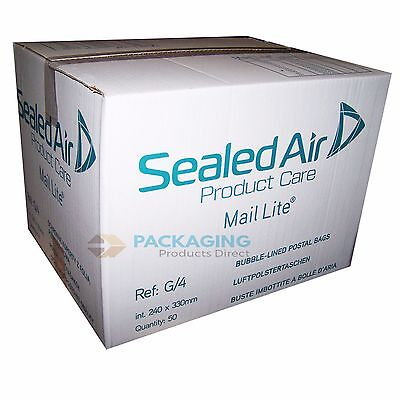 1000 Mail Lite White Mailing Padded Postal Bags G/4 240MM X 320MM Envelopes