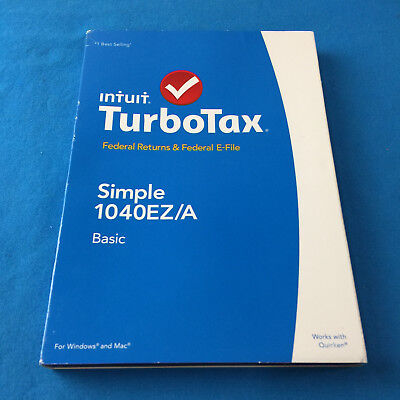 2014 Intuit Turbotax Basic Simple 1040Ez A Pc Mac New Sealed  Ships Same Day