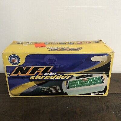Vintage Nfl Paper Shredder Telemania New